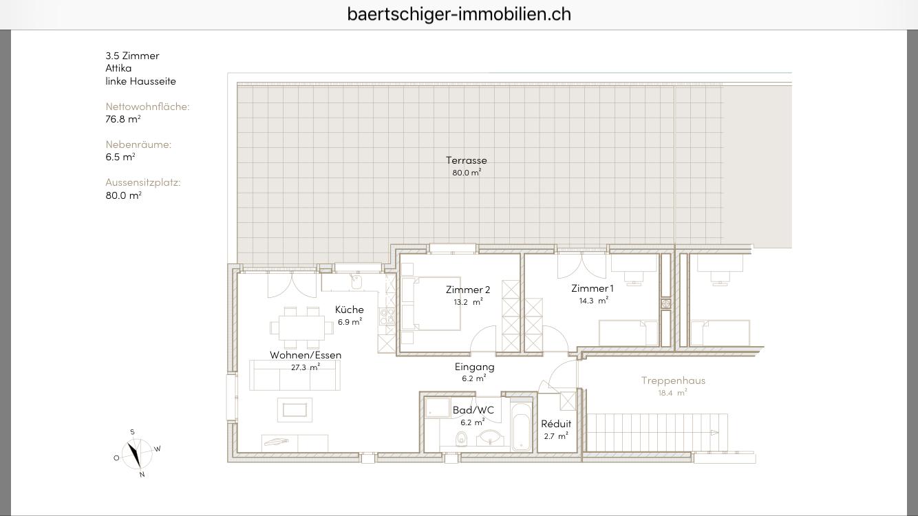 Wohnung B 03.1, Attika, Striegelpark