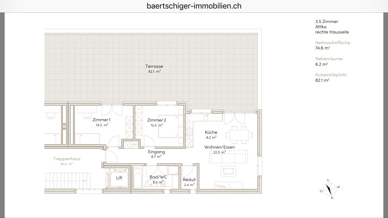 Wohnung B 03.2, Attika, Striegelpark