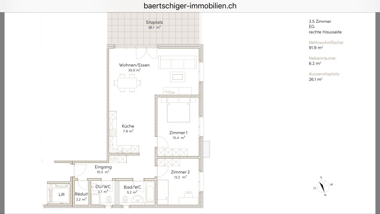 Wohnung B 01.4, 1. OG, Striegelpark