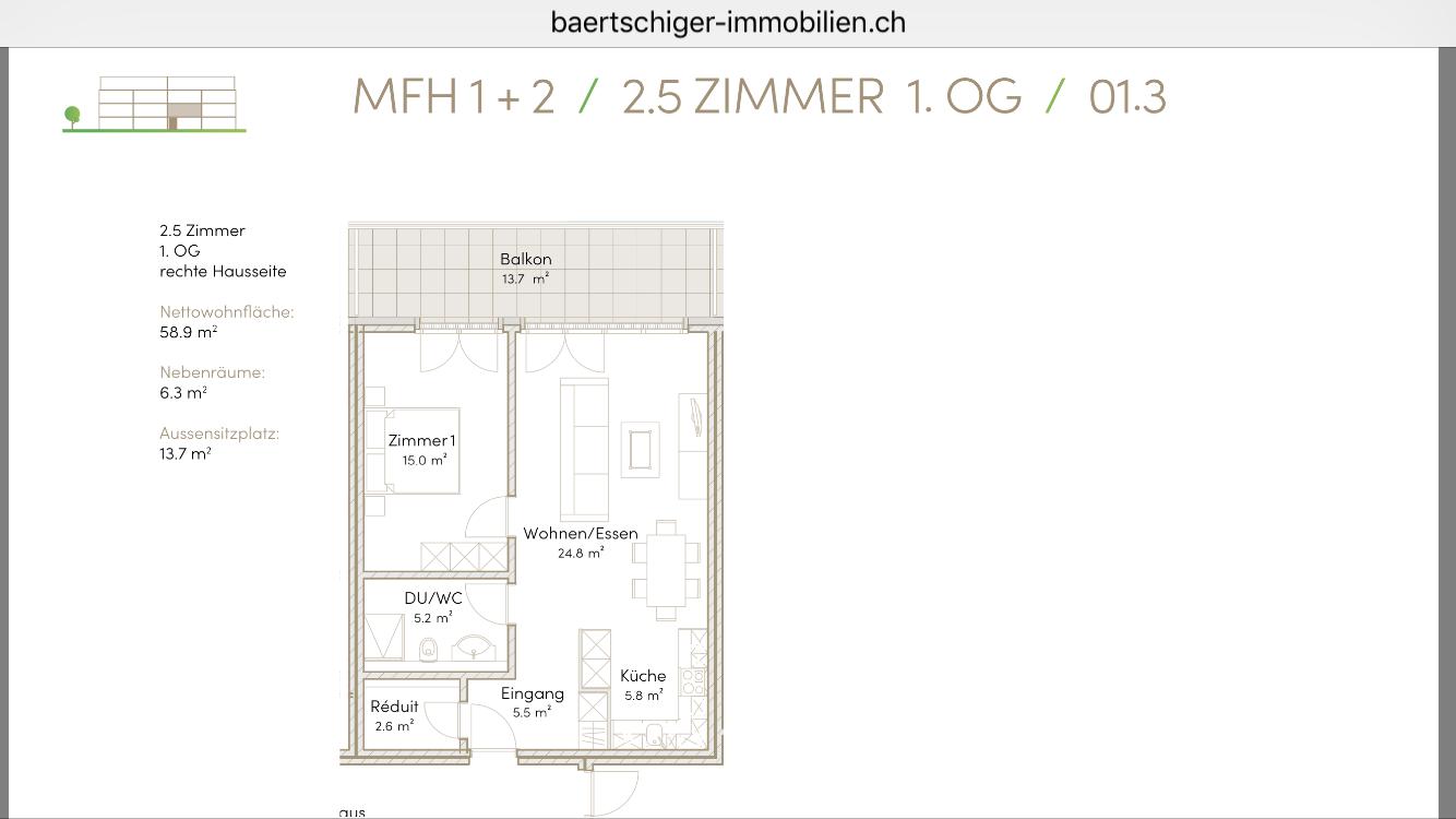 Wohnung B 01.3, 1.OG, Striegelpark