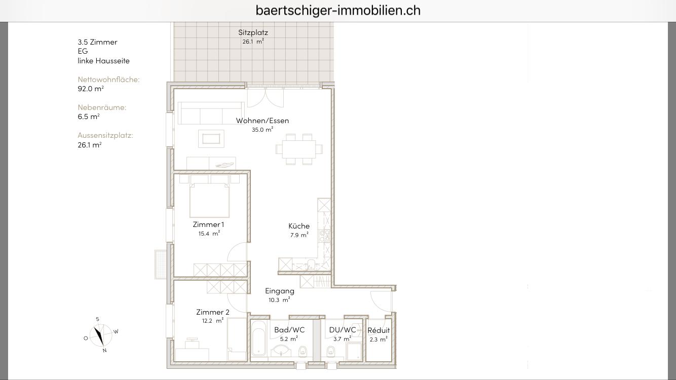 Wohnung B 00.1, EG, Striegelpark