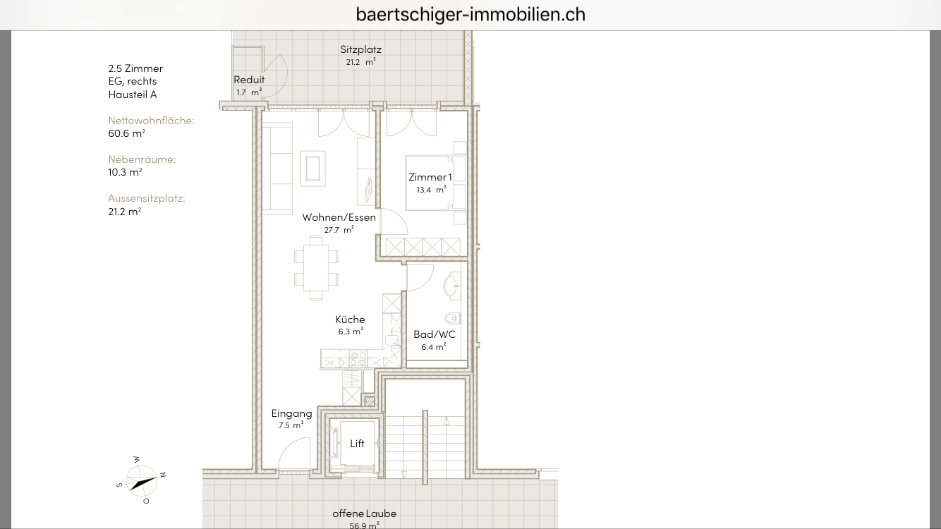 Wohnung F 01.3, EG, Striegelpark
