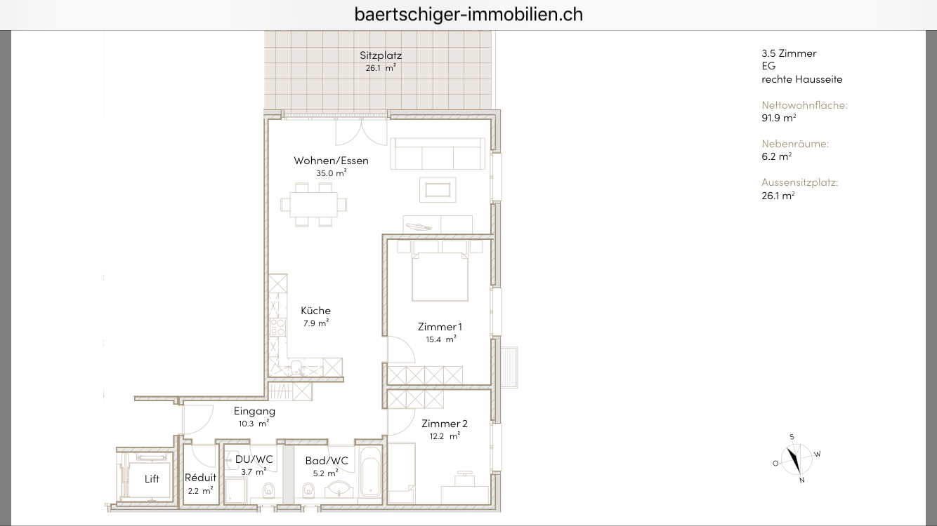 Wohnung B 00.4, EG, Striegelpark